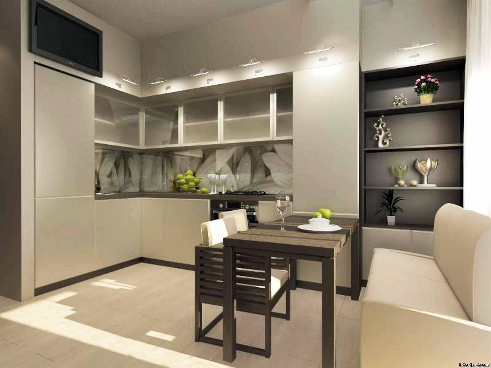 Интерьер кухни 9м2 фото